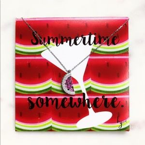 Jewelry - Summertime Somewhere Watermelon Necklace